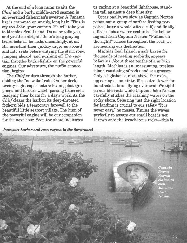 The Puffin Connection published in Mature years page 2